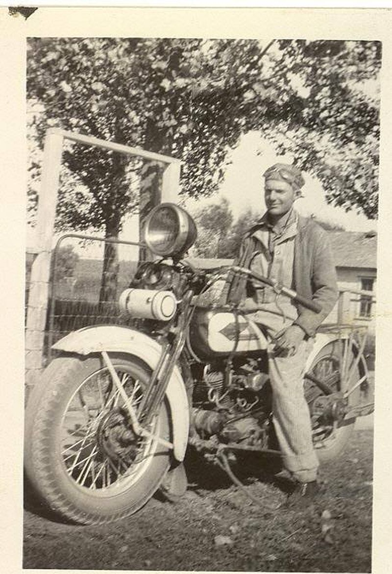 Old family motorcycle photo