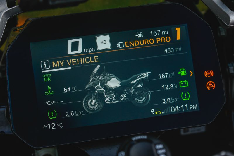 TFT screen BMW 1200 GS