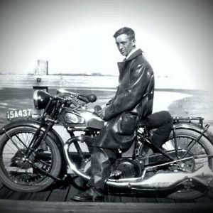 Grandfather on motorcycle