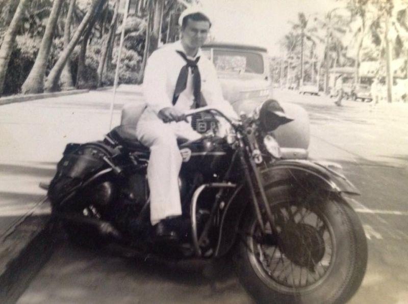 Motorcyclist in Hawaii