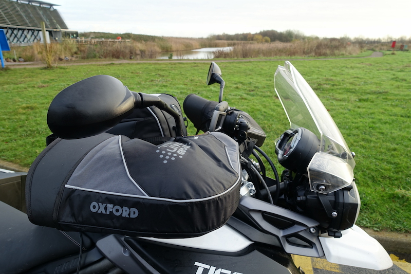 bar muffs on a triumph tiger 800