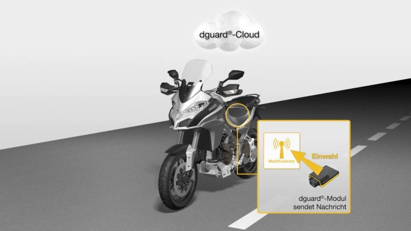 Dguard motorcycle crash detection device