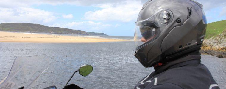 A flip front motorcycle helmet