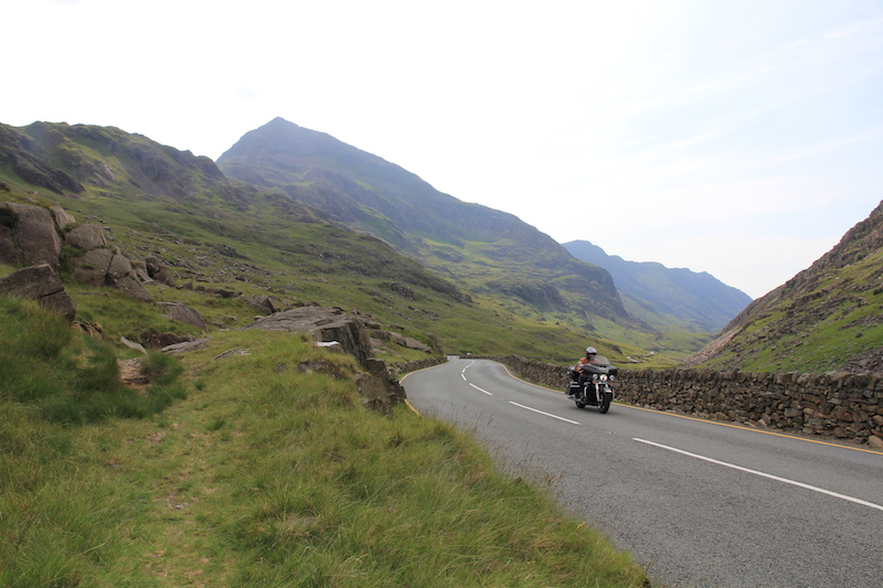 Riding on the Llanberris Pass