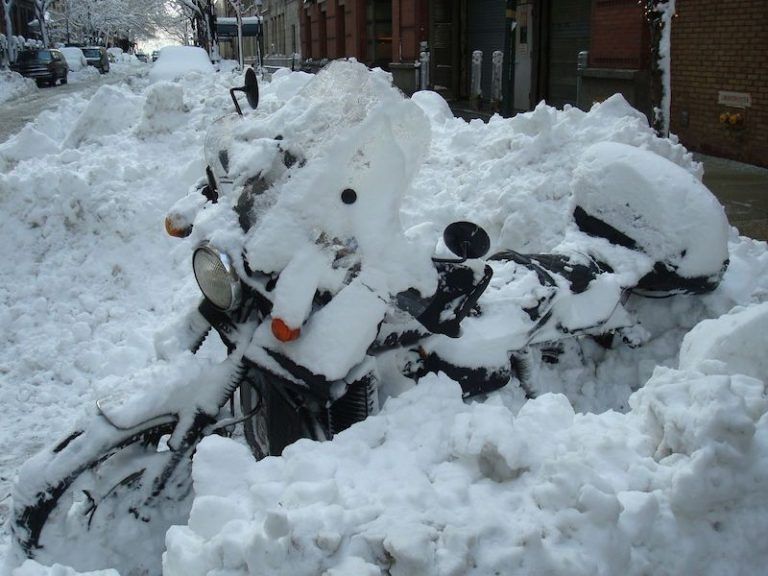 Winter motorcycle storage