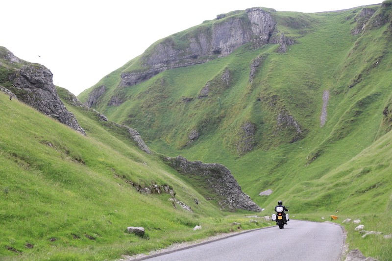 Winnats Pass in the Peak District is one of the most scenic roads in the UK
