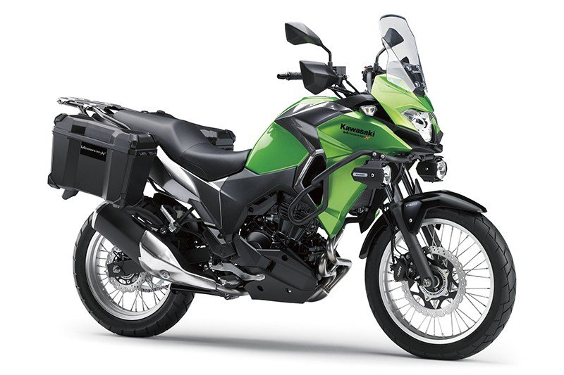 A Kawasaki Versys-X 300 with accessories fitted
