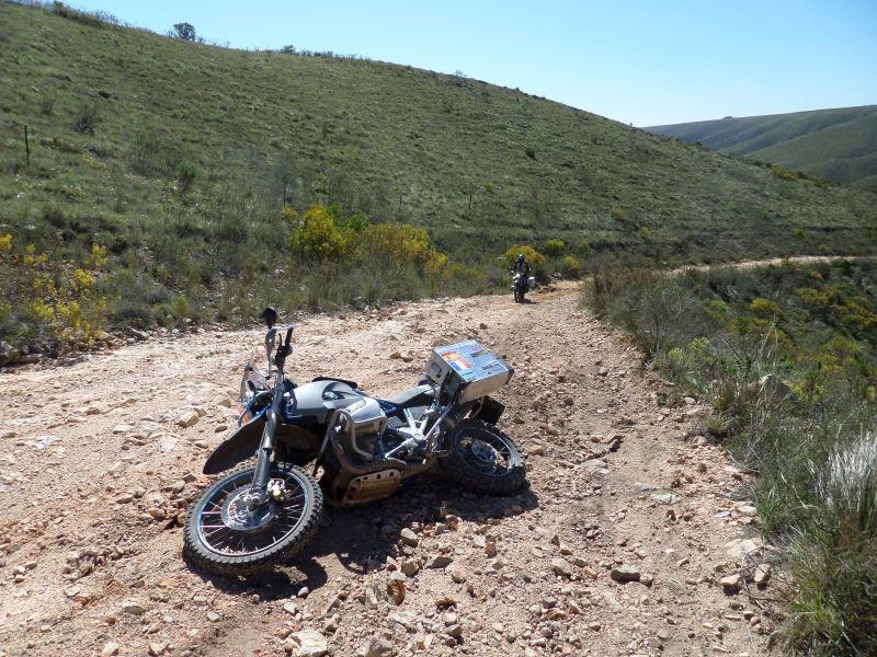 Dropped motorcycle off-roading