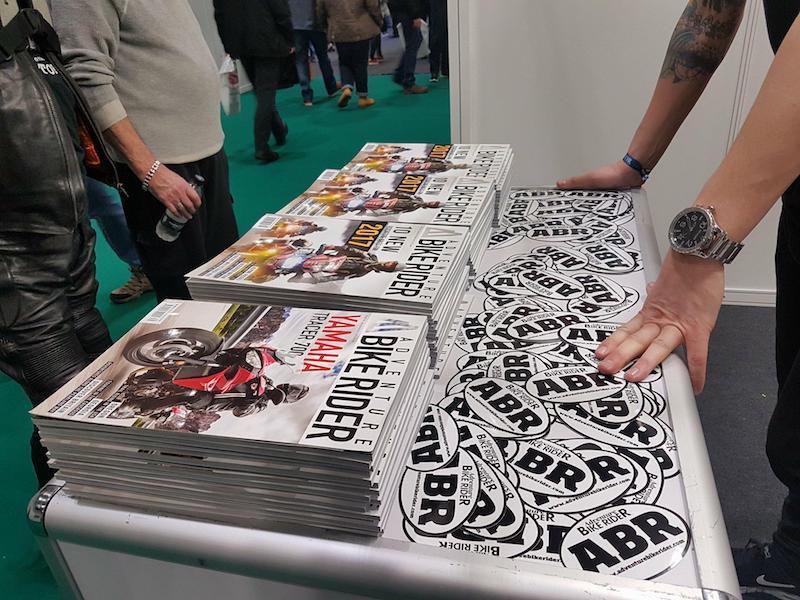 ABR stickers at the Carole Nash MCN Motorcycle Show