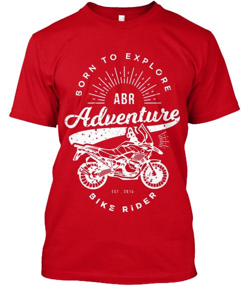 Adventure Bike Rider T-shirt red