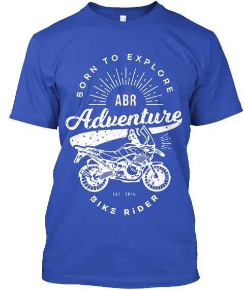 Adventure Bike Rider T-shirt blue
