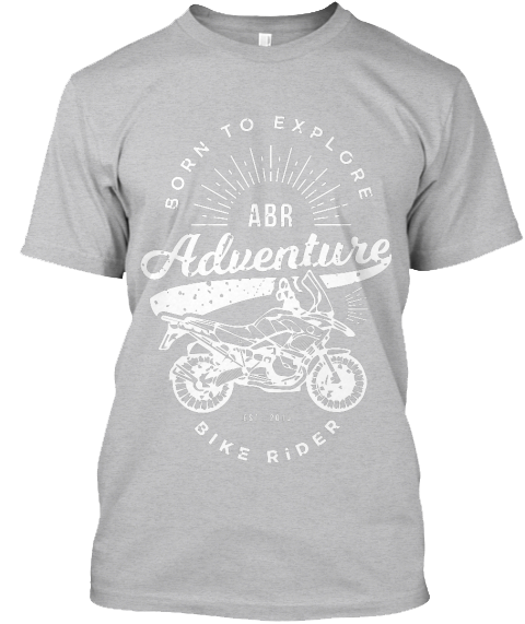 Adventure Bike Rider T-shirt grey