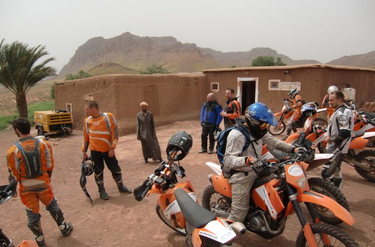 A group of motorcyclists in Morocco