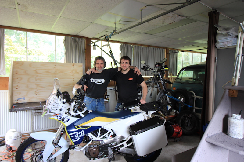 Mike and Aad with the Husqvarna 701 Nomad Adventure
