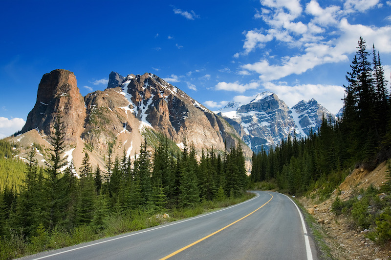 The Icefields Parkway Road in Canada