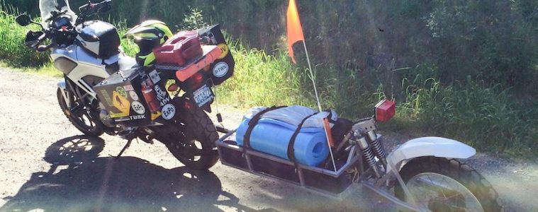 Building a motorcycle trailer