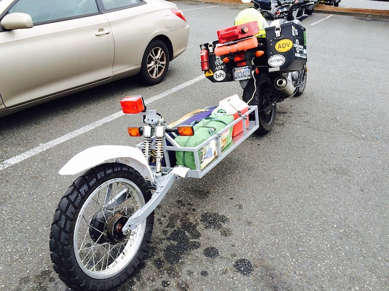 How I Built My Own Motorcycle Trailer Adventure Bike Rider