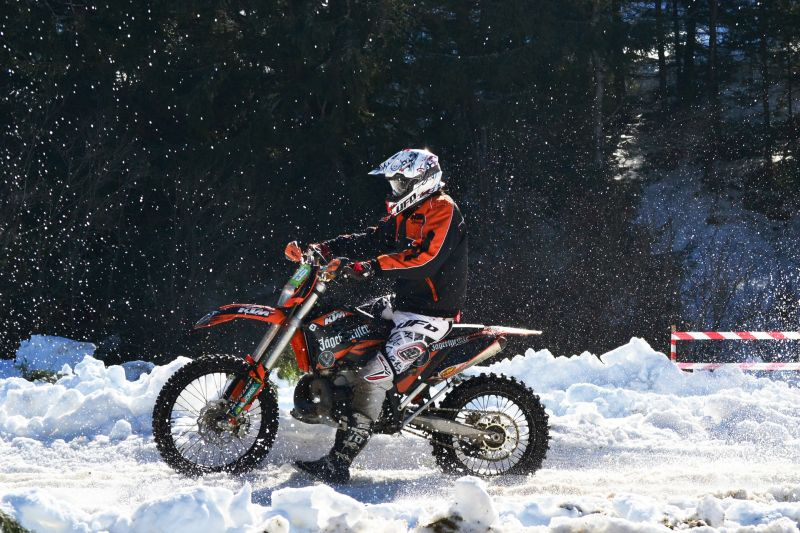 Motorcycling snow
