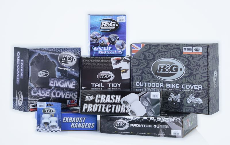 R&G motorcycle products discounts with Bennetts