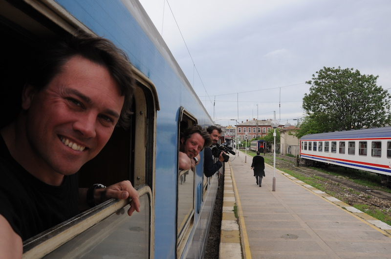 Long Way Round director on a train