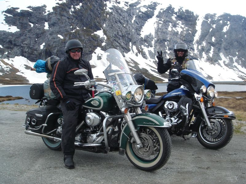 Harley Davidson riders in Norway