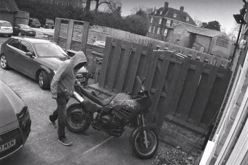 CCTV motorcycle theft