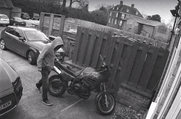 CCTV motorcycle theft