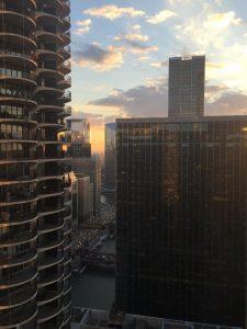 Sky scrapers in Chicago