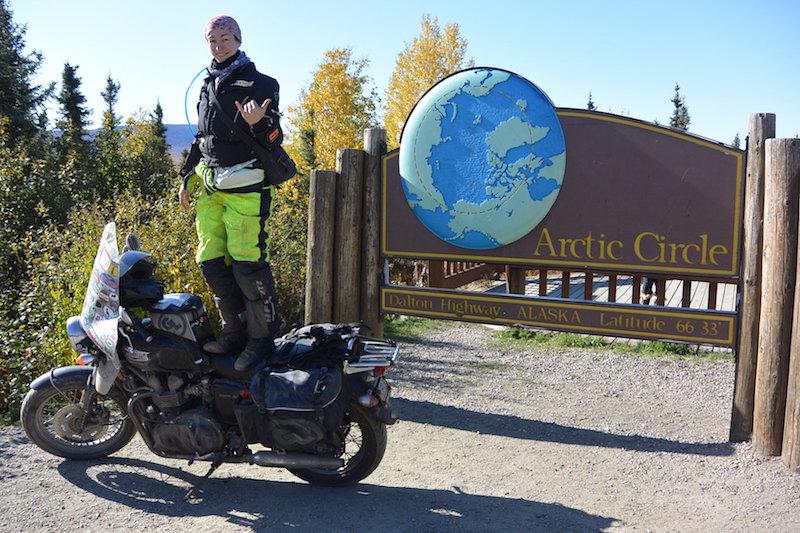 Danell Lynn at the Arctic Circle