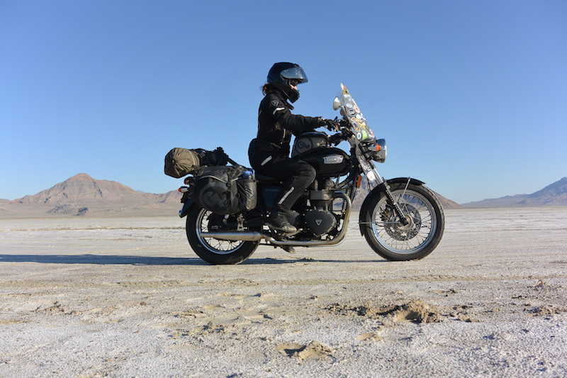Danell Lynn on the Bonneville salt flats
