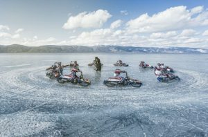 Daniil Ivanov motorcycle Lake Baikal
