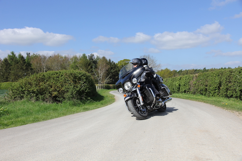 Harley Davidson Ultra LTD with a pillion