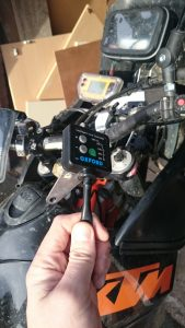 Mounting a heated grips controller