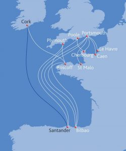 Brittany Ferries Ireland to Spain Ferry route