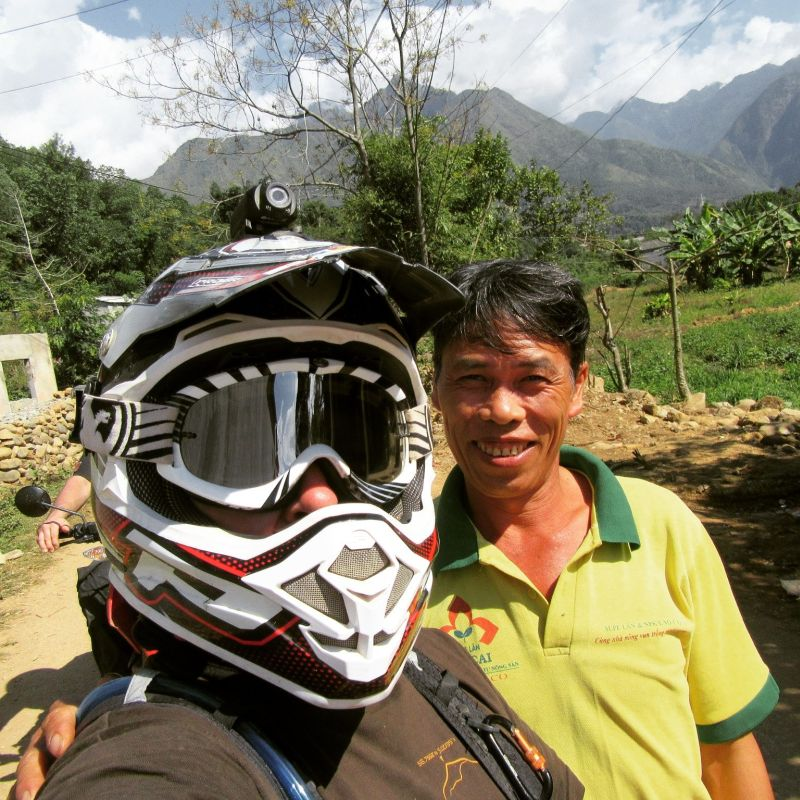 Meeting locals in Vietnam