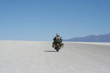 Motorcycle Bolivia Salt Flats