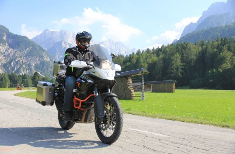 Motorcyclist Dolomites
