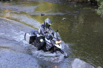 River crossing motorcycle