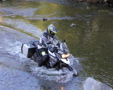 River crossing motorcycle