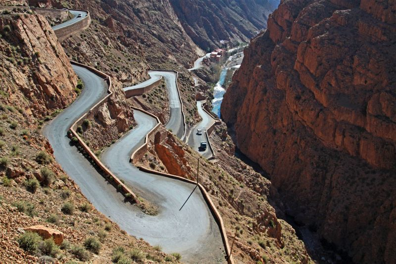 Dadés Gorge road in Morocco