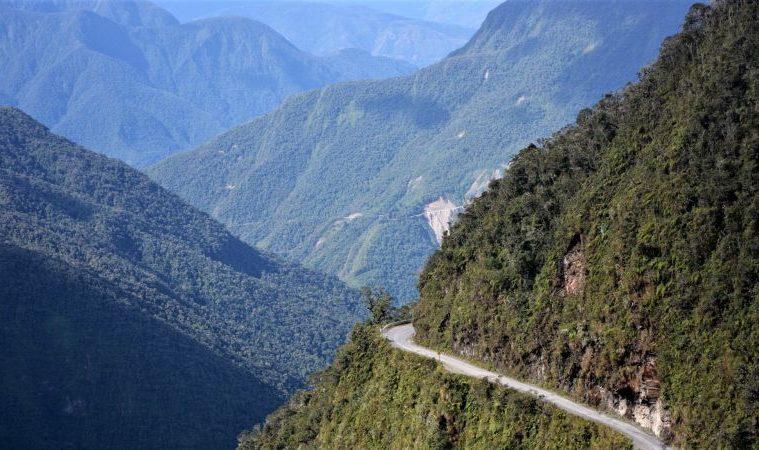 Death road in Bolivia, South America