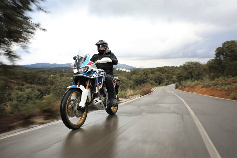 Honda Africa Twin on road