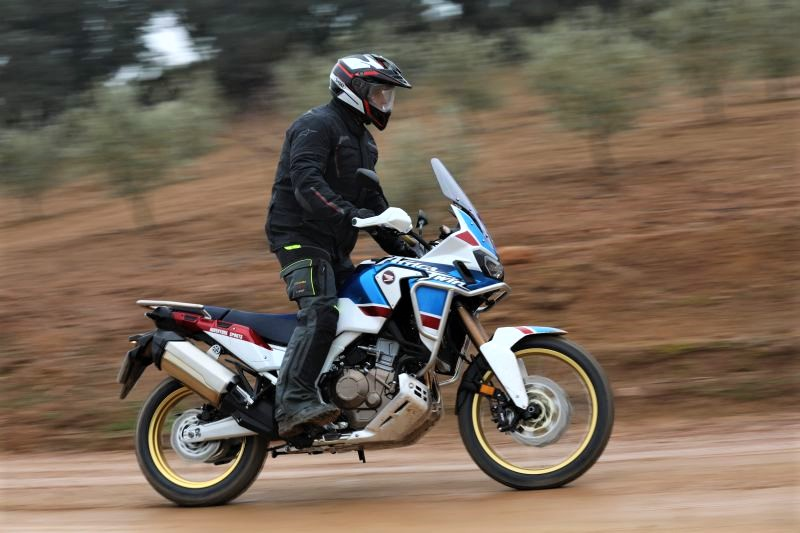 Off-road trail on the Honda Africa Twin