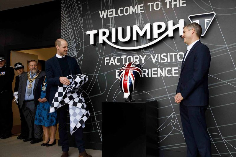 Prince WIlliam opens Triumph visitor experience centre