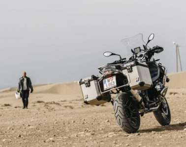 The new Bridgestone Battlax Adventure A41 tyres on motorcycle