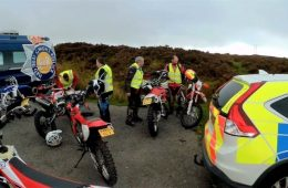 Welsh off-road motorcycling police team