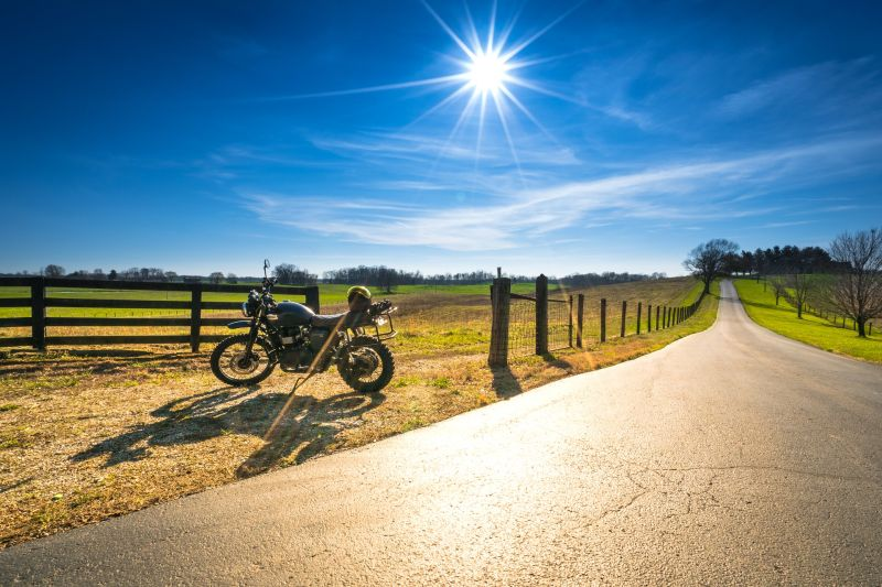 Role of thirds motorcycle photography