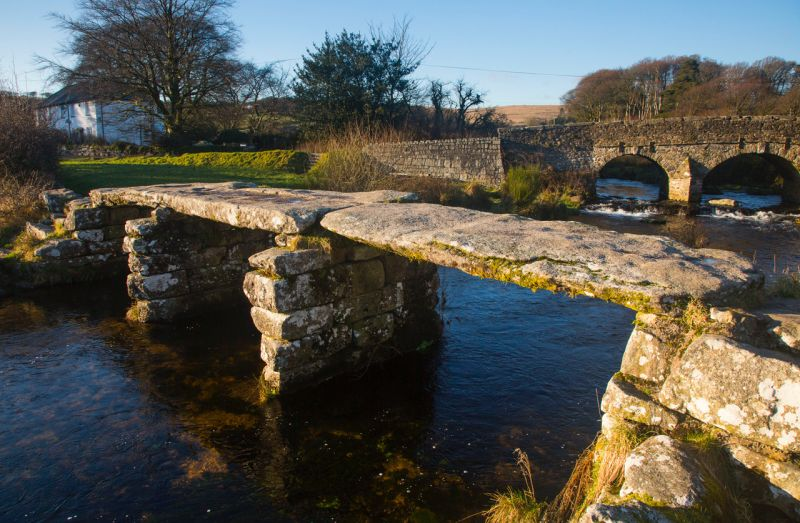 The Old Clapper Bridge Dartmoor