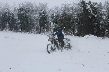 motorbike on snow