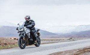 Triumph Tiger 800 on road